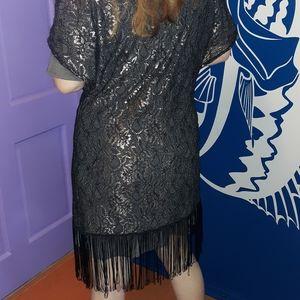 Betsy Johnson Elegant Tassle Wrap